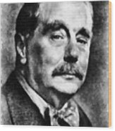 H. G. Wells Author Wood Print