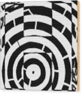 H Maze Wood Print