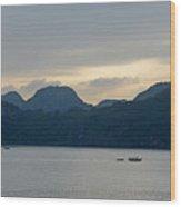 Halong Bay Sunset  Wood Print