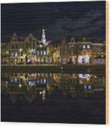 Haarlem Night Wood Print by Chad Dutson