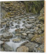 Haast Waterfall Wood Print
