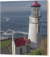Haceta Head Lighthouse Wood Print