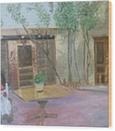 Hacienda Del Sol Wood Print