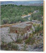 Hacienda In The Desert Wood Print