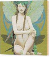 Hada Amarilla Wood Print