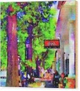Haddonfield Downtown Wood Print