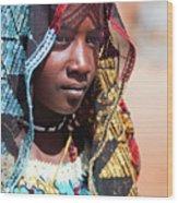 Hadji A Fulani Girl II Wood Print