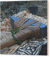 Hafted Hawaiian Adze Wailea Maui Hawaii Wood Print