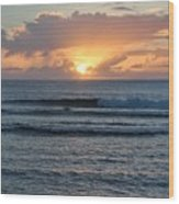 Hagatna Bay Sunset Wood Print