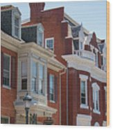 Hagerstown Cityscape Wood Print