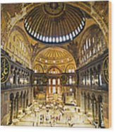 Hagia Sophia Interior Wood Print by Artur Bogacki