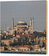 Hagia Sophia - Istanbul Turkey Wood Print