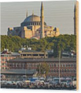 Hagia Sophia On The Bosphorus  Wood Print