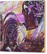 Hahn Hen Chicken Poultry Gockel  Wood Print
