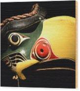 Kolus Mask Kwakwawak Mask 7 Wood Print