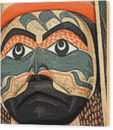 Haida Faces Wood Print