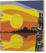 Haida Sunset Wood Print by Christopher Williams