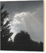 Hail Storm Clouds Wood Print