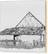 Haines Barn Wood Print