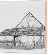 Haines Barn Wood Print by Virginia McLaren