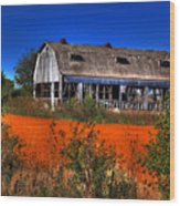 Hainesville Barn Color Wood Print