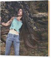 Hair - Long Beautiful Hair-pop Song Art Wood Print