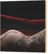 Hair Bondage - Hair To Feet - Fine Art Of Bondage Wood Print by Rod Meier