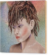 Hairstyle Of Colors Wood Print