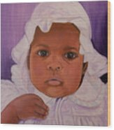 Haitian Baby Orphan Wood Print