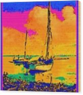 Haitian Fishing Boats Wood Print
