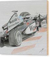 Hakkinen Victory In Luxembourg Gp 1998 Wood Print
