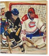 Halak Catches The Puck Stanley Cup Playoffs 2010 Wood Print