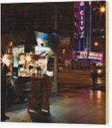 Halal Vendor At Radio City Music Hall Wood Print