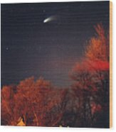 Hale-bopp Comet Wood Print