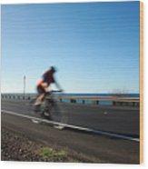 Haleakala Highway Bike Ride Wood Print