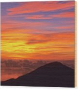 Haleakala Sunrise Colors IIi Wood Print