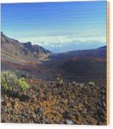 Haleakala Volcano Crater Wood Print