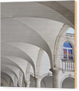 Half Arched Portal Of The Minorite Monastery Cloister Attached T Wood Print