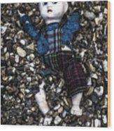 Half Buried Doll Wood Print