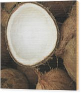 Half Coconut Wood Print by Brandon Tabiolo - Printscapes