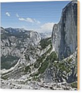 Half Dome And Yosemite Valley From The Diving Board - Yosemite Valley Wood Print