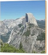 Half Dome From Inspiration Point Wood Print