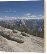 Half Dome From Sentinel Dome Wood Print