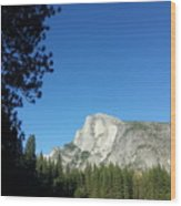 Half Dome Village Wood Print