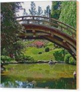 Half Moon Bridge Wood Print