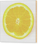 Half The Orange Wood Print
