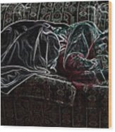 Halfabaskan Sleeping Wood Print