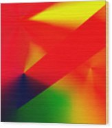 Halftone Colorful Abstract Wood Print