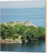 Halibut Point, 5452 Wood Print
