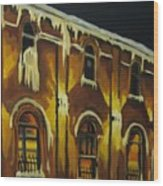 Halifax Ale House In Ice Wood Print
